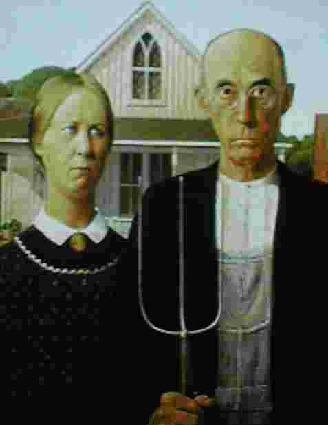 American Gothic by Grant Wood.